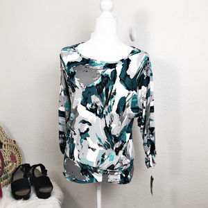 JM Collection Size S ruching on sleeves and sides